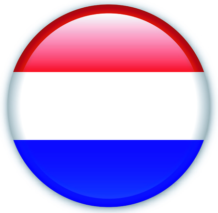 Button with flag from Netherlands - Vector Format Stock Vector - 1525122