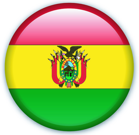 Button with Flag from Bolivia - Vector Format Vector