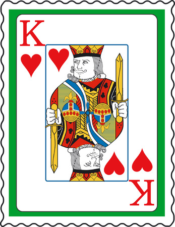 Stamp with King of hearts