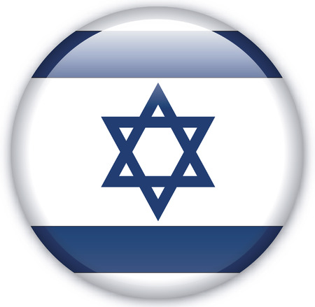 Button with Flag from Israel - Vector Format Vector