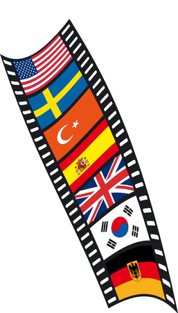 Filmstrip with Flags Stock Vector - 1703395