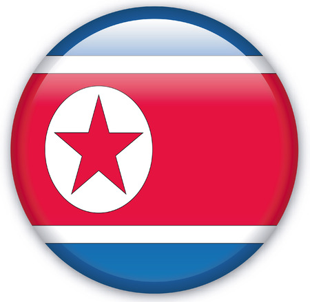 Button with Flag from Korea North - Vector Format Stock Vector - 1716907