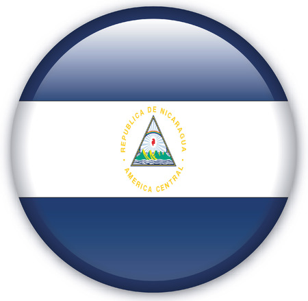 Button with Flag from Nicaragua - Vector Format Vector