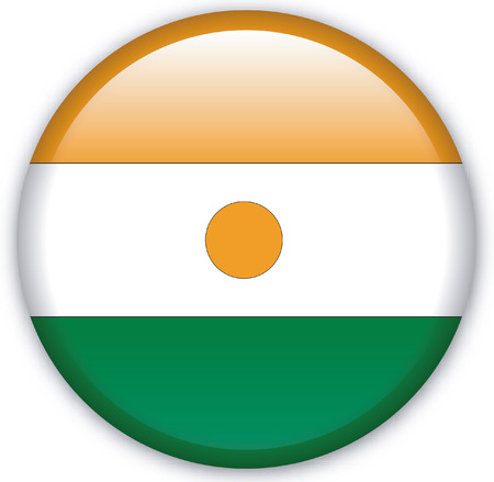 Button with Flag from Niger - Vector Format Vector