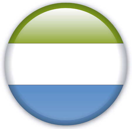 eastern europe: Button with Flag from Sierra Leone - Vector Format Illustration