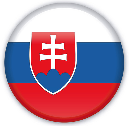 Button with Flag from Slovakia - Vector Format Vector