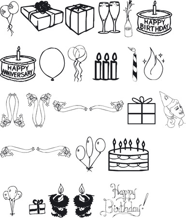 silouettes: Illustration of Birthday Silouettes - Vector Format
