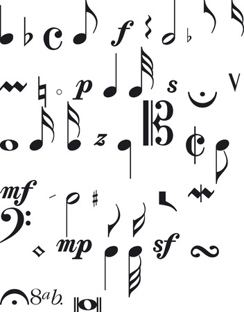 siluettes: Illustration of Musical Silouettes - Vector Format Illustration
