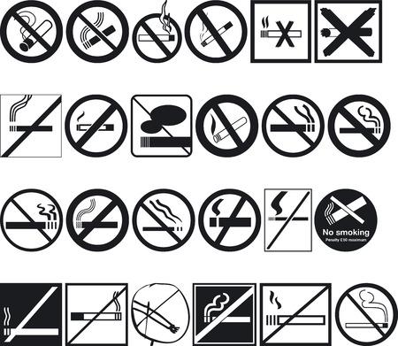 siluettes: Illustration of No Smoking Signs - Vector Format Illustration