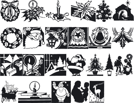 xmax: Illustration of Xmas Silhouettes - Vector Format Illustration