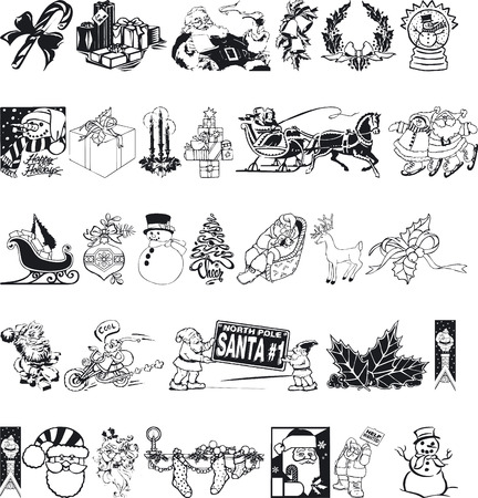 siluettes: Illustration of Xmas Silhouettes - Vector Format Illustration