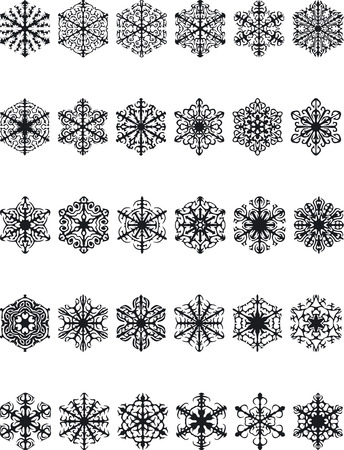 xmax: Illustration of Snow Silouettes - Vector Illustration