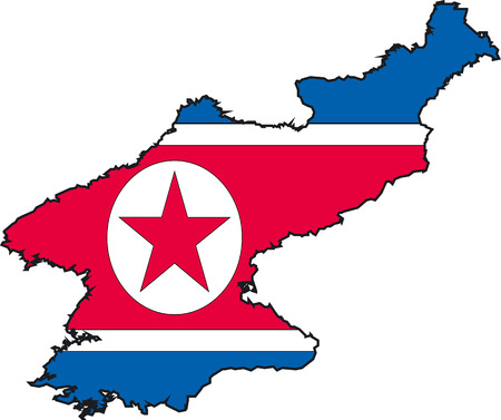 Illustration Vector of a Map and Flag from Korea North Stock Vector - 2192915