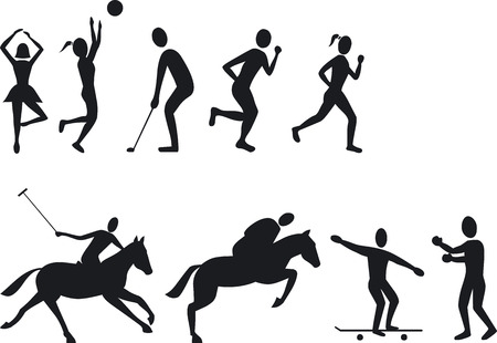 Illustration Vector of Athlete Silouettes Vector