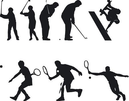 sillouette: Illustration Vector of Athlete Silouettes Illustration
