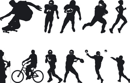 pastes: Illustration Vector of Athlete Silouettes Illustration