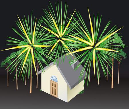 Illustration Vector of Fireworks - Vector Vector