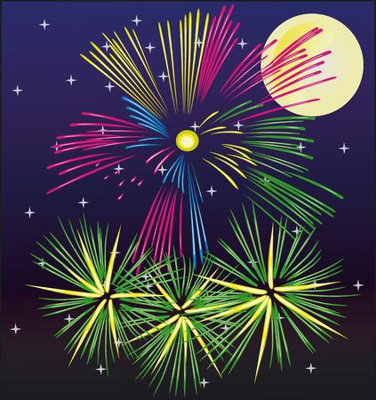 finale: Illustration Vector of Fireworks - Vector Illustration