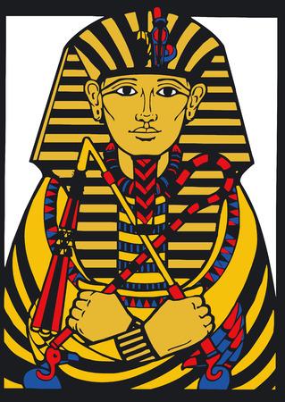 hieroglieven: Vector illustratie van de Egyptische Silouette