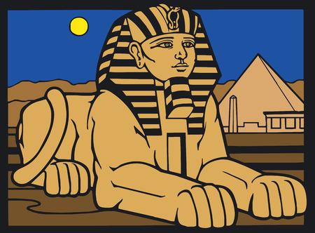 papiro: Vector illustration of Egyptian Silouette Vettoriali