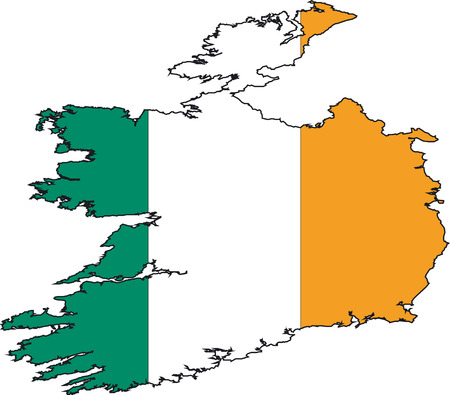 Illustration Vector of a Map and Flag from Ireland Stock Vector - 2279093