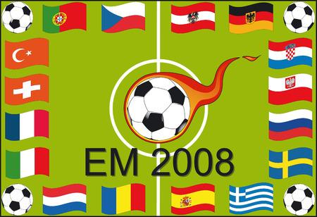 soccer wm: European soccer championship 2008 - Illustration Vector