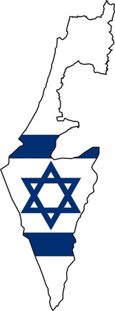 Illustration Vector of a Map and Flag from Israel Stock Vector - 2430200