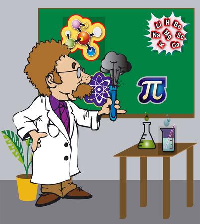 docs: The Toonimal Scientist - Illustration Vector Art