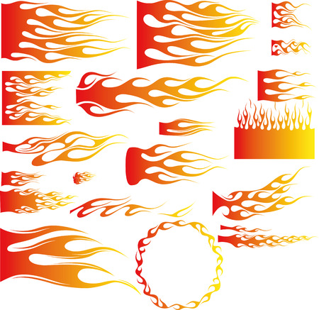 An Illustration of many flames - Vector Illustration