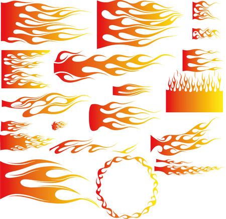 infierno: Un ejemplo de muchas llamas - Vector