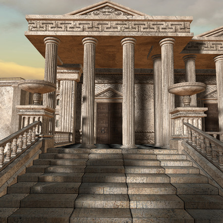 ancient greek: 3D Olympia - A greek fantasy  Stock Photo