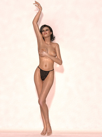 nudity: Nude female body with sexy pose