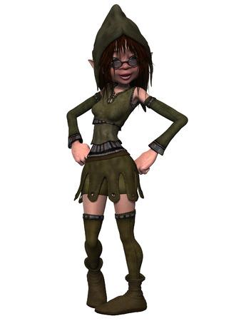 toonimal: Female Fantasy Figure Stock Photo