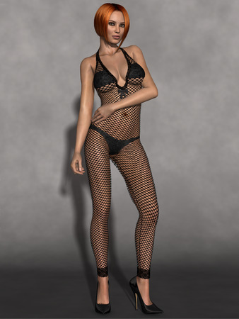 sex appeal: Beauty girl with sexy bodystocking