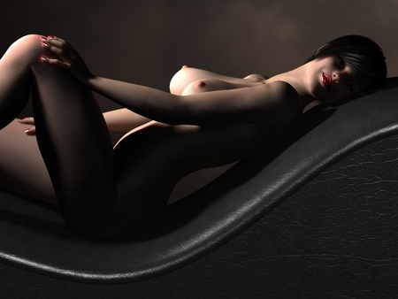 naked female body: Naked female body with sexy pose