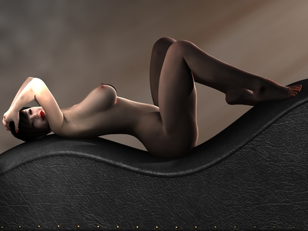 nudity: Naked female body with sexy pose