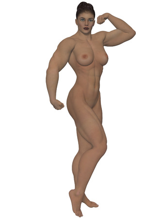 topless women: Nude strong woman