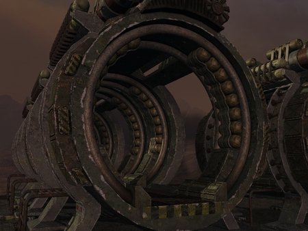 technologie: Mystic Sci-Fi Background Stock Photo