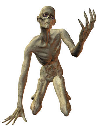 reanimation: 3 D Render of an Zombie