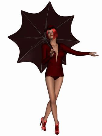 sexy umbrella: Singing in the Rain - Beauty with Umbrella