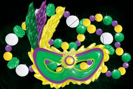 Collage of mardi gras items Stock Photo