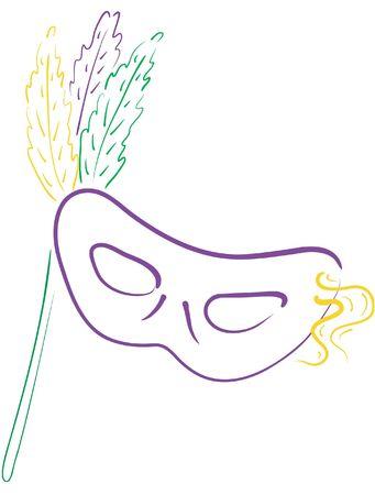 gras: Colorful mardi gras masks