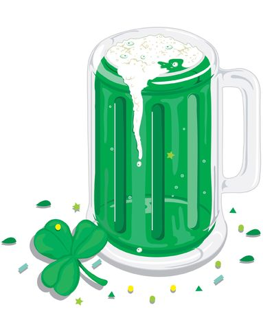 Mug of green beer for St. Patricks day