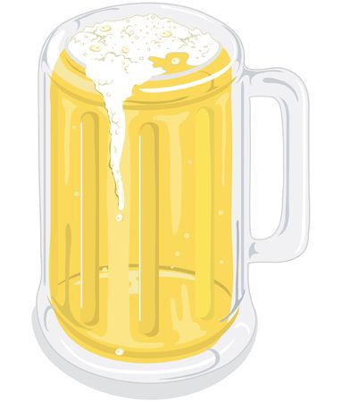 Illustration of a mug of beer Stock Illustration - 330014