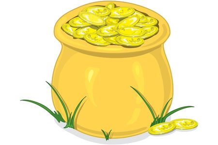 Illustration of a pot of gold Stock Illustration - 330016