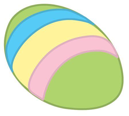 Illustration of a decorated easter egg. Stock Illustration - 330009