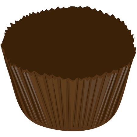 Illustration of a chocolate candy wrapper illustration