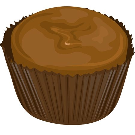 Illustration of a chocolate candy. illustration