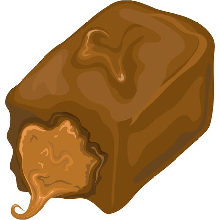 Illustration of a chocolate candy.