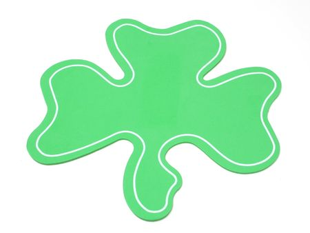 Isolated bright green clover Stock Photo - 329979